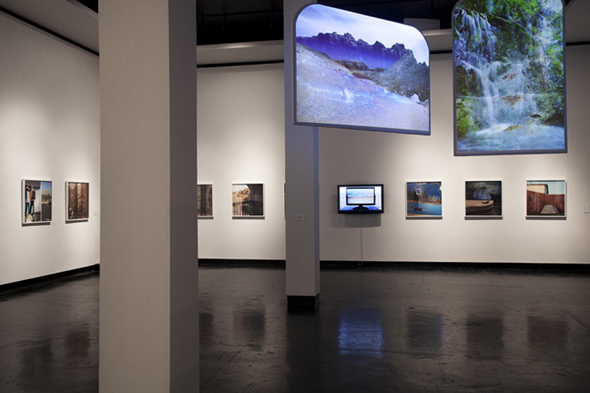 HDL, Surfside and Various Photographs (Installation View) at Lawndale Art Center, 2012